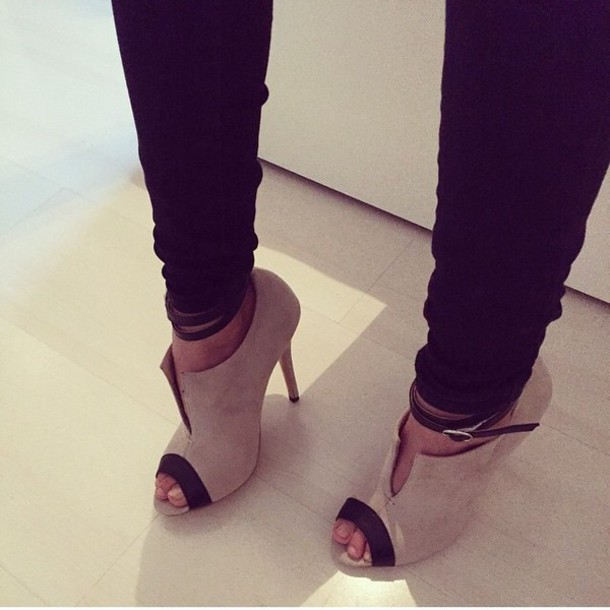shoes black heels heels