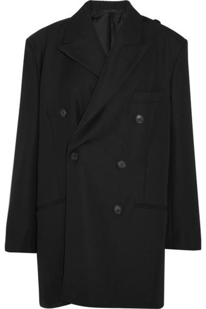 Balenciaga jacket wool jacket black wool
