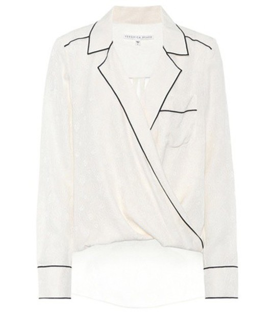 Veronica Beard shirt silk white top