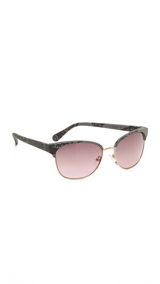 sunglasses black pink