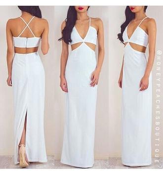 dress white dress maxi dress