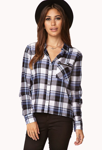 Minimalist plaid shirt