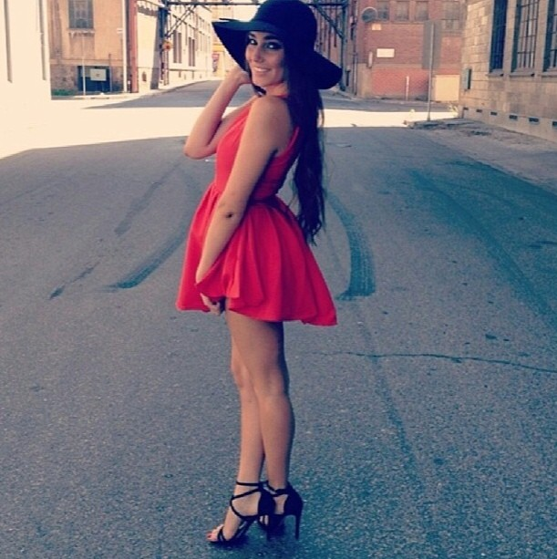 Fairy floss dress in red