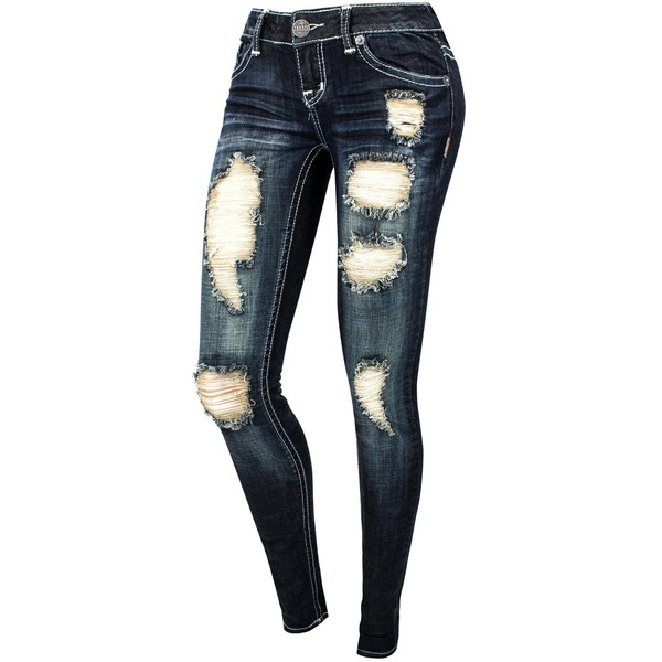 Destructed Skinny Jeans - Polyvore