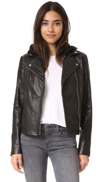 jacket leather jacket leather black