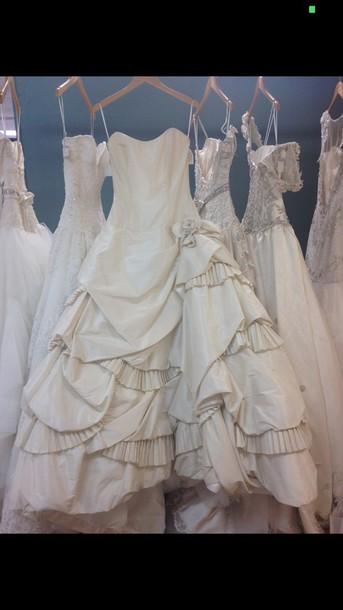 dress ivory wedding dress
