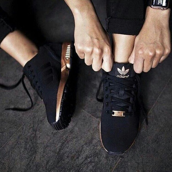 adidas zx flux core rose gold