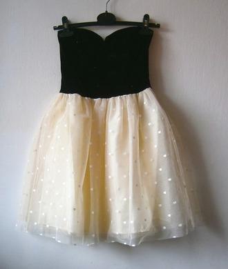 tulle skirt black and white