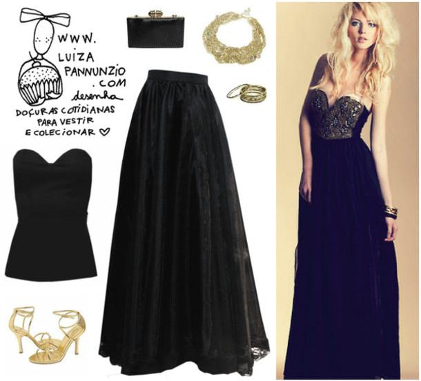Dress Long Prom Dress Shoes Black Corset Top Wheretoget