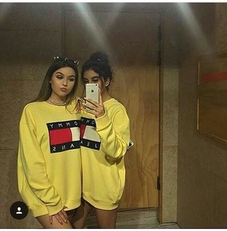sweater yellow large sweatshirt tommy hilfiger sweater dress sweatshirt dress tommy hilfiger crop top