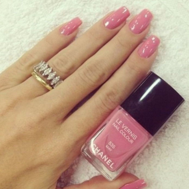nail polish, light, pink, nails, nail polish, shiny, blouse - Wheretoget