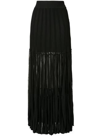 skirt maxi skirt maxi pleated sheer women spandex cotton black