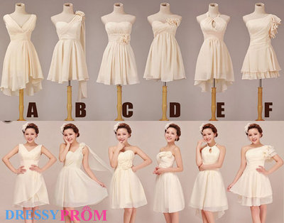 Affordable Six Styles Short Cheap Bridesmaid Dress Under 100-Hand-made Short Chiffon Bridesmaid Dress/Party Dresses On Sale 8046 · DressyProm · Online Store Powered by Storenvy