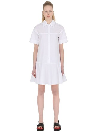 dress shirt dress short cotton white