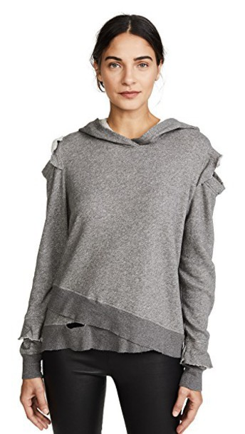 Wilt hoodie ruffle cold charcoal sweater