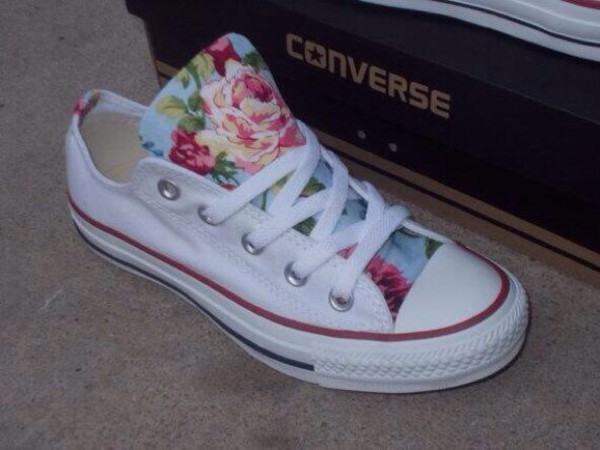shoes converse home accessory floral white girl