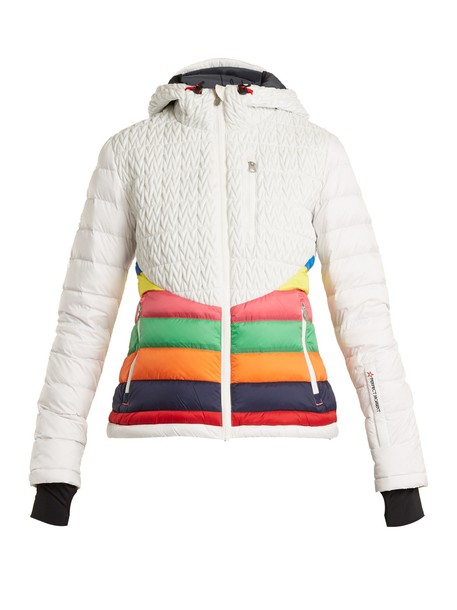 Perfect Moment jacket quilted chevron white
