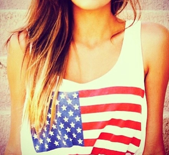 usa t-shirt usa flag top sleeveless