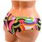 Geo rainbow cheeky shorts