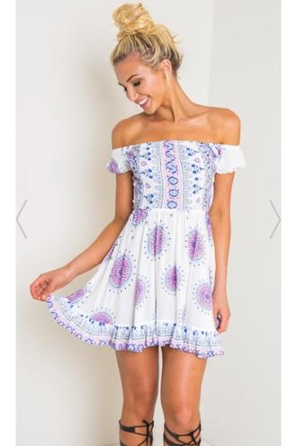 dress boho off the shoulder summer dress