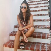 romper,instagram,shay mitchell,summer outfits,sunglasses