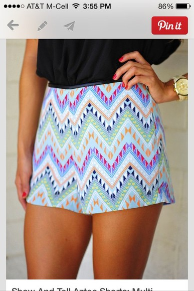 shorts chevron summer comfortable