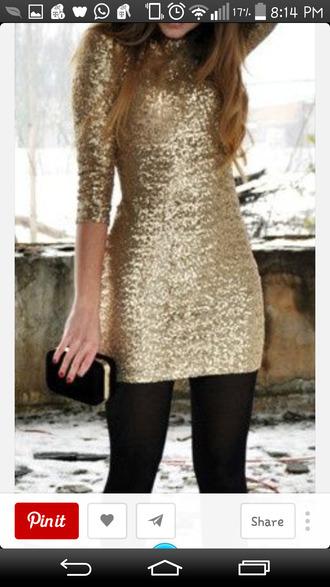 gold sequins gold dress long sleeve dress handbag dressy dresses