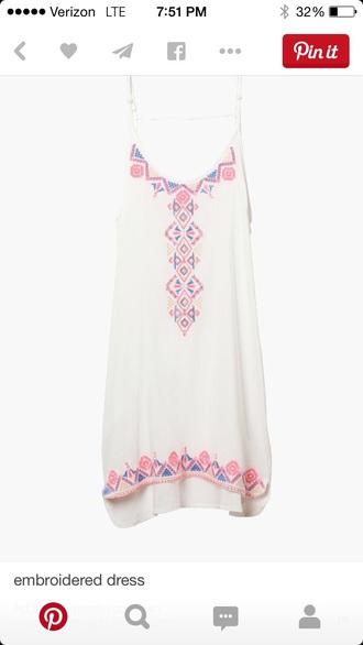 dress summer dress embroidered dress white dress