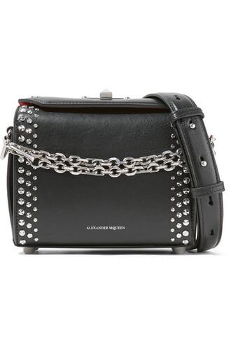 studded bag shoulder bag leather black