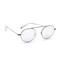 Garrett leight zeno sunglasses - chrome thistle/chrome