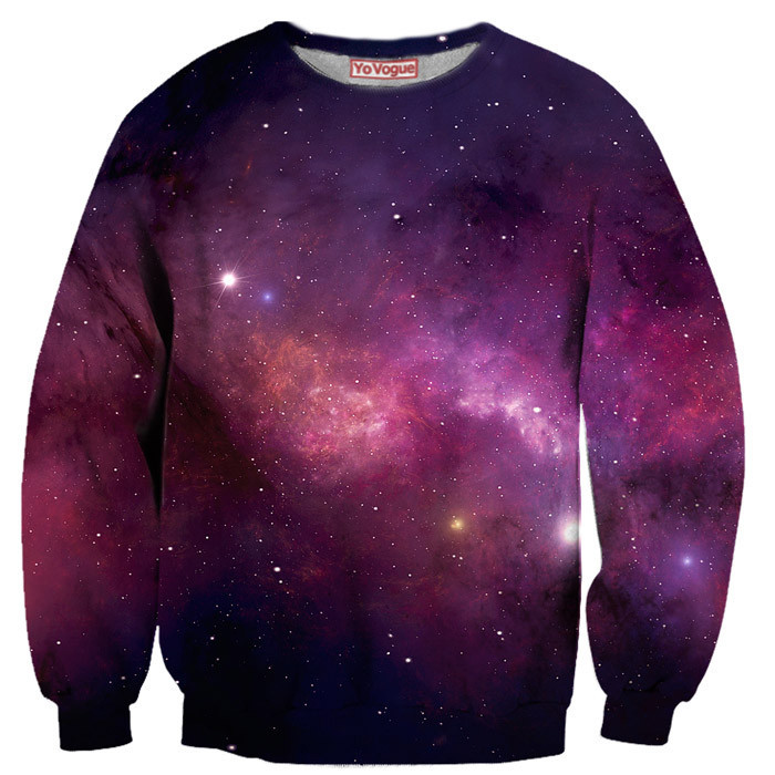 Purple galaxy sweatshirt – yo vogue clothing