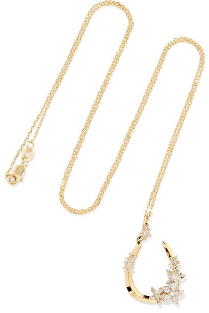 Foundrae necklace diamond necklace gold jewels