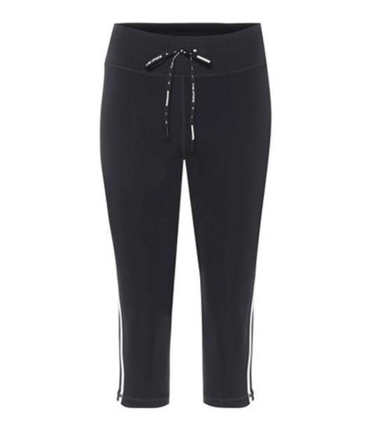 The Upside Cropped striped leggings in black