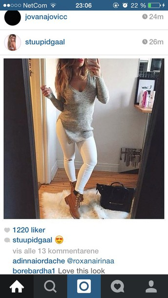 romper knitted sweater grey sweater fashion swag top timberland boots sweater style