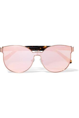 sailor rose gold rose sunglasses mirrored sunglasses gold pink copper
