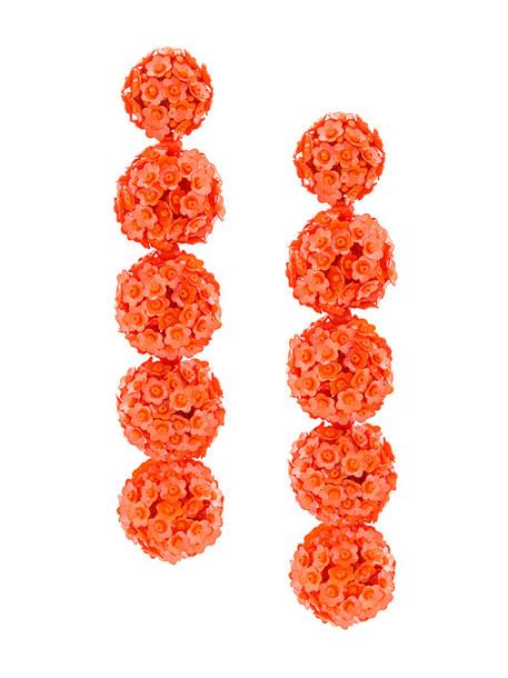 Sachin & Babi women fleur earrings yellow orange jewels
