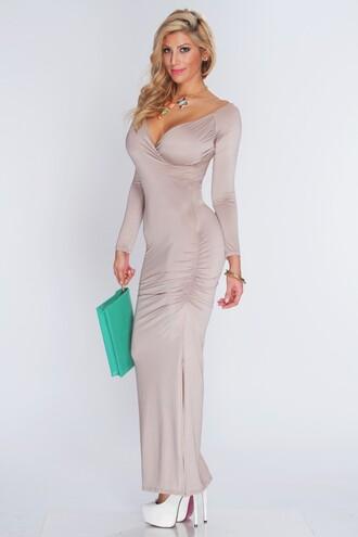 dress v neck dress evening dress