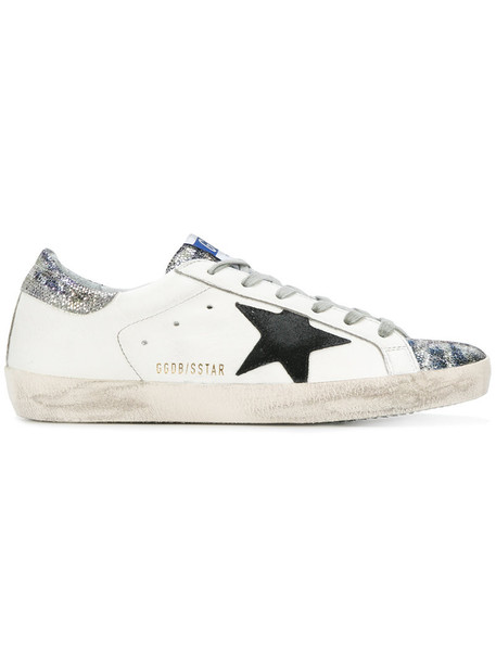 GOLDEN GOOSE DELUXE BRAND glitter women sneakers leather white cotton shoes