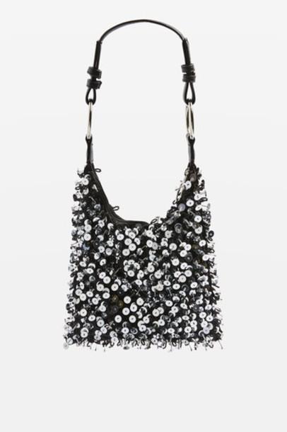 Topshop bag shoulder bag black