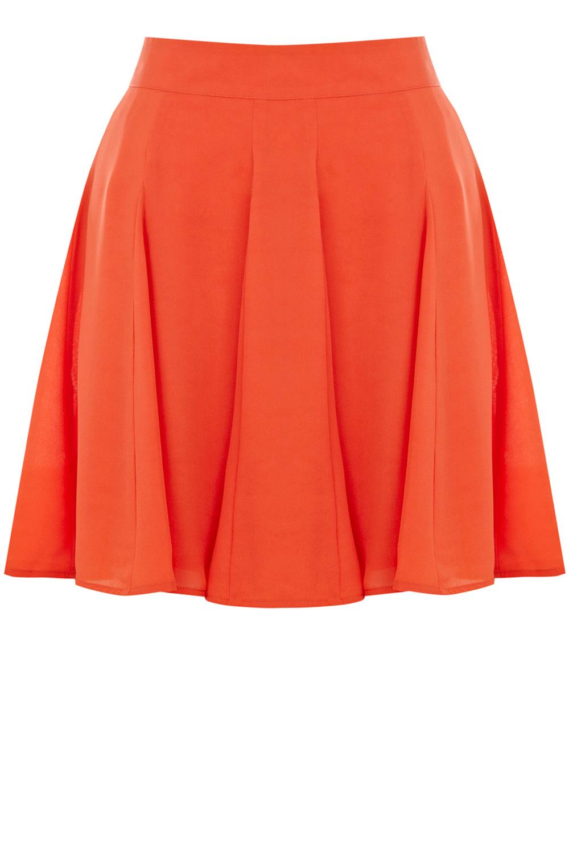 Godet Skirt Orange Oasis Stores