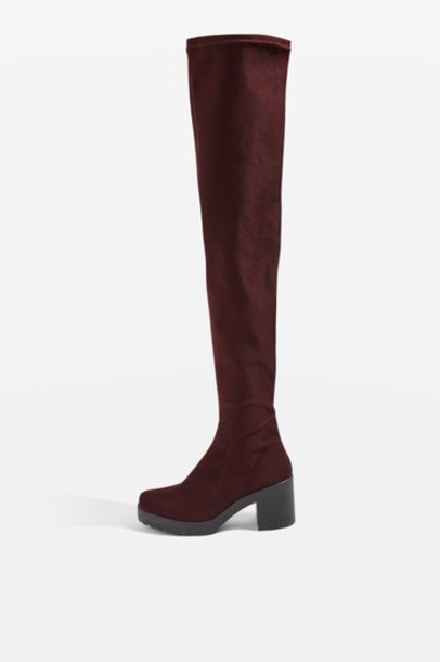 Topshop high cactus burgundy shoes