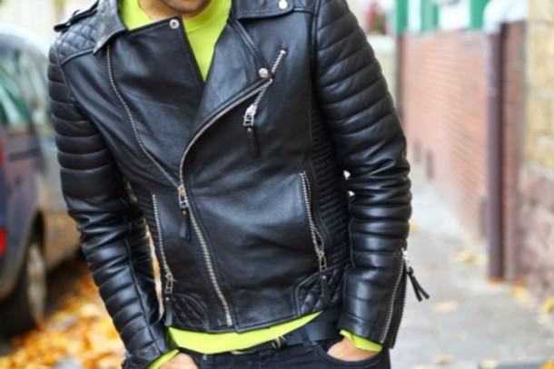 Quilted Biker Leather Jacket (Oil Black) | Boda Skins | ASOS ... : quilted biker leather jacket - Adamdwight.com