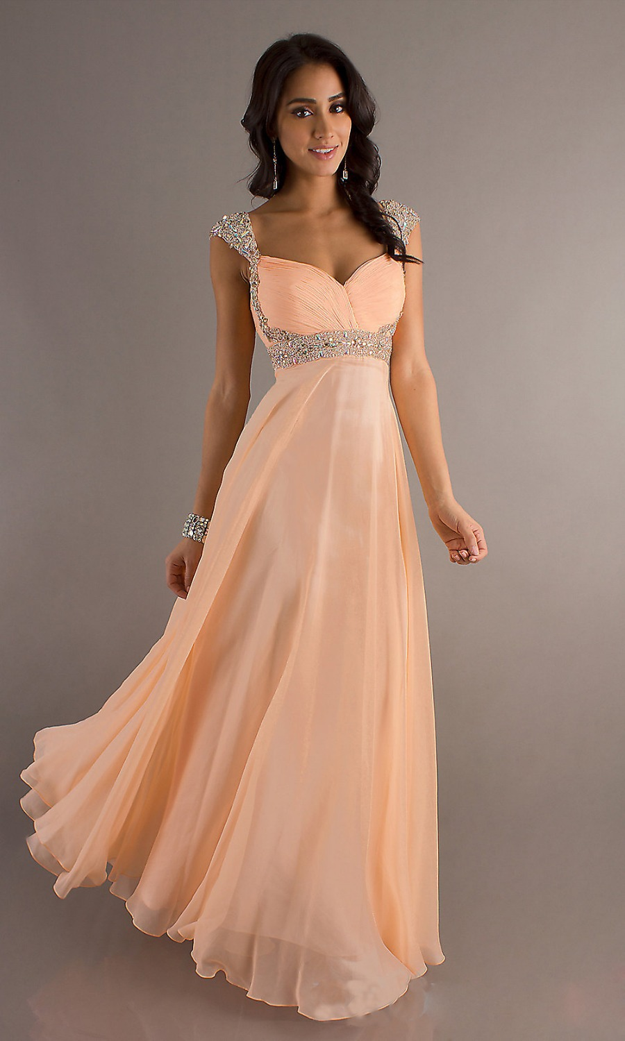 Aliexpress.com : Buy Custom Prom Long Dresses Party Dress Teen Gowns  Sweetheart Pleated Crystal Sequins Chiffon Evening ...