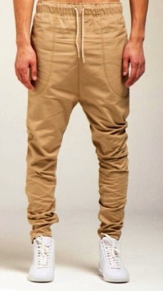 jeans joggers pants sweatpants tan clothes spring comfortable