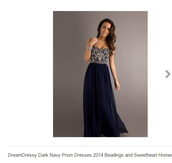 Dark blue prom dress uk