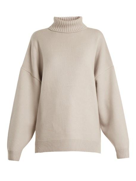 Tibi sweater oversized light grey