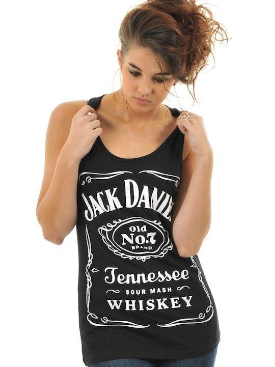 Jack Daniels Black Classic Logo Womens Tank Top   eBay