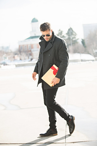 hello his blogger sweater shoes sunglasses socks dress bag make-up