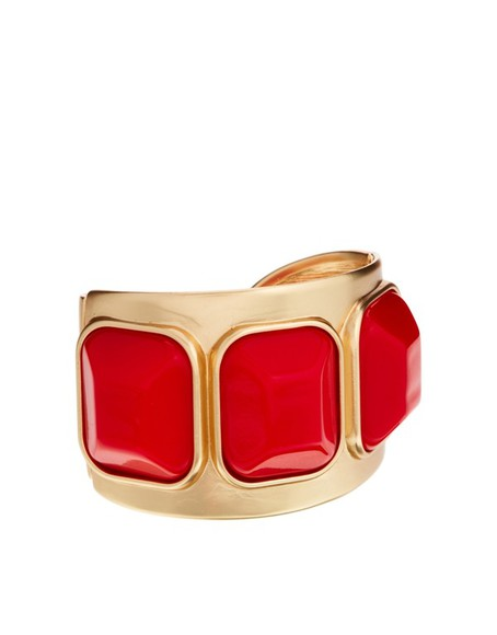 bracelet cuff gold jewels kenneth jay lane gem cuff red kenneth jay kenneth jay lane