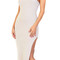 Emprada - payton nude high slit dress | emprada